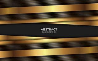 Hintergrund Design Gold und Schwarz Stil vektor