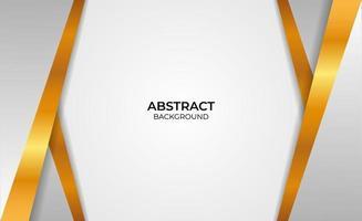 Design abstrakter Gold- und Graustil vektor