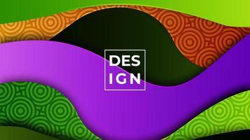 moderner abstrakter Hintergrund des bunten Gradienten. geometrischer Formenmusterhintergrund. kann für Geschäft, Präsentation, Web-Banner, Hintergrund verwenden. vektor