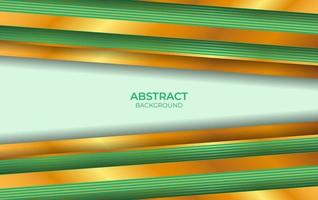 Design Luxus grün und Gold Hintergrund vektor