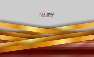 Luxus Hintergrund rot und Gold Stil Design vektor