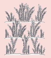 alger marina växter scen vektor