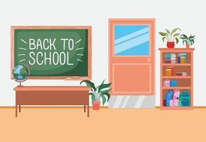Klassenzimmer mit Tafelszene
