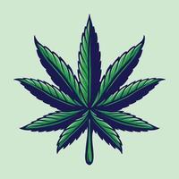 Blatt Cannabis bunte Logoillustration vektor