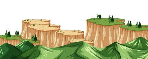 naturlandskapslandskap från en bergstopp vektor