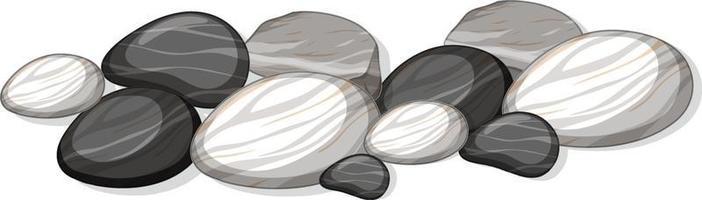 Gruppe von Steinen auf weißem Hintergrund vektor