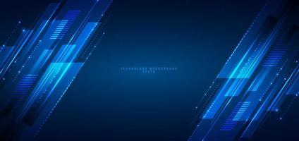 abstrakt banner webbdesign mall blå geometriska linjer överlappande lager rörelse på mörk bakgrund