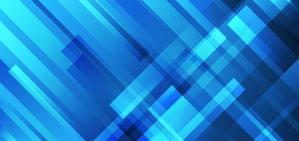 abstrakta blå ränder överlappande teknik futuristiska koncept bakgrund vektor
