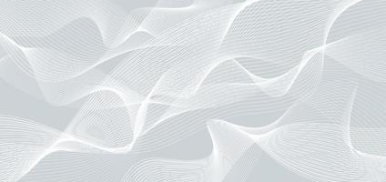 abstrakter weißer Wellen- oder Wellenlinienhintergrund und -beschaffenheit. vektor