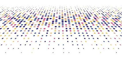 Buntes geometrisches Kreismuster des futuristischen Stils der abstrakten Technologie des großen Datums lokalisiert auf weißem Hintergrund und Textur. vektor
