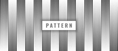 abstrakte nahtlose Muster schwarze vertikale Linien auf weißem Hintergrund und Textur. vektor