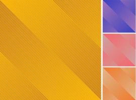 uppsättning av gula, lila, rosa, orange färg diagonala linjer mönster abstrakt bakgrund och konsistens. vektor