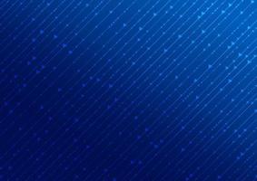 Quadratisches und Pfeilmuster des digitalen Konzepts der abstrakten Technologie mit Linie auf blauem Hintergrund vektor