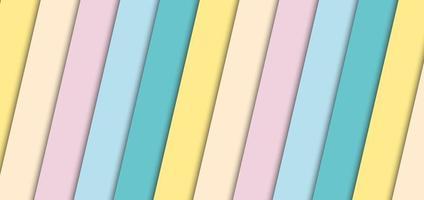 abstrakt banner pastell ränder diagonal mönster bakgrund och struktur. pappersstil. vektor