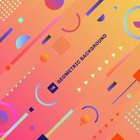 abstrakt trendiga färgglada geometriska komposition med dekorativa vektor