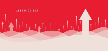 banner webb mall design affärstillväxt med stigande pilar bakgrund vektor