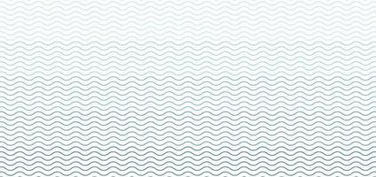 blaues nahtloses Wellenlinienmuster auf weißem Hintergrund vektor