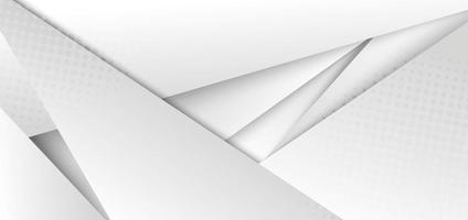 abstrakt modern futuristisk vit och grå gradient färg geometrisk bakgrund med halvton vektor