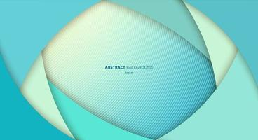 abstrakter blauer Kurvenschichtüberlappungshintergrund. Papierkunststil. vektor