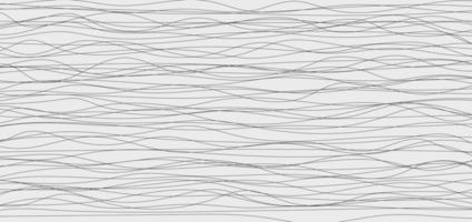 abstraktes schwarzes Wellen- oder Wellenlinien- und Kurvenmuster auf weißem Hintergrund. vektor