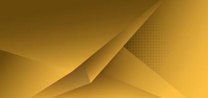 abstrakt gul polygontriangelgradientbakgrund med skugga vektor