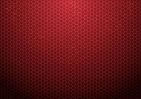 abstrakt röd hexagon mönster bakgrund med partiklar teknik futuristiska vektor