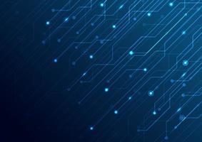 abstrakter Business-Technologie-Struktur-Schaltungscomputer-blauer Hintergrund. vektor