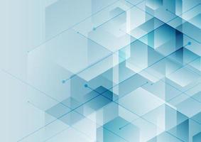 abstrakt bakgrund blå hexagoner med diagonal linje, teknik digitalt koncept. vektor