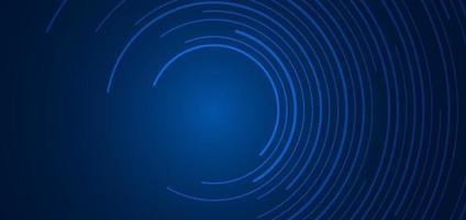 abstrakte Technologie futuristisches Konzept blaue kreisförmige Linien Banner Design Verbindung vektor
