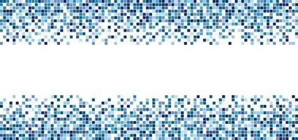blå fyrkantiga mönster mosaik isolerad på vit bakgrund vektor