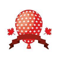 Kanada dag firande med ballong vektor