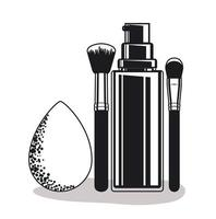 einfache Make-up-Produkte vektor