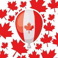 Kanada-Tagesfeier mit Ballon vektor