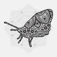 Insektenmandala. Vintage dekorative Elemente. orientalisches Muster, Vektorillustration. vektor