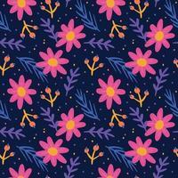 handgezeichnetes Blumenmuster vektor