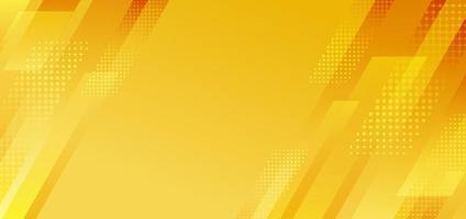 abstrakt gula diagonala ränder geometriska med halvton effekt bakgrund. vektor