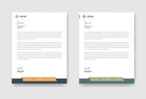 företags brevpappermall vektor