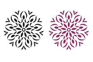 Mandala Muster Schablone Kritzeleien Skizze vektor