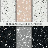 uppsättning terrazzo sömlösa mönster. premium vektor