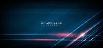 geometrischer überlappender Hi-Speed-Linienbewegungsdesignhintergrund der abstrakten Technologie mit Kopierraum für Text. vektor