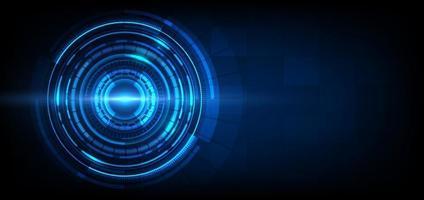 abstrakter futuristischer Technologiehintergrund. Hud Kreis Element. vektor