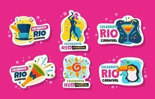 rio karneval klistermärken vektor