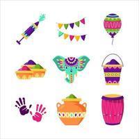 Holi Festival Ikone vektor