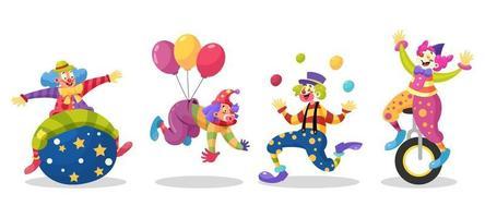 Charakter des Clowns vektor