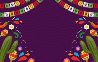 platt cinco de mayo festlighet bakgrund