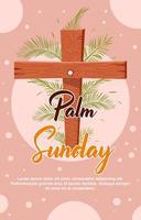 Happy Palm Sonntag mit sanfter Farbe vektor