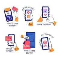 kontakta mindre koncept klistermärken