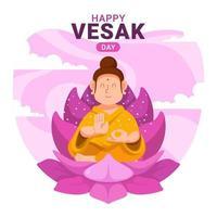 Happy Vesak Day Design vektor