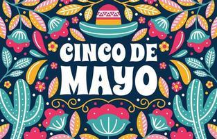 Hintergrund des Cinco de Mayo-Festivals vektor