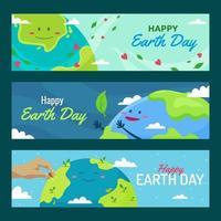 internationell jorddag banner vektor